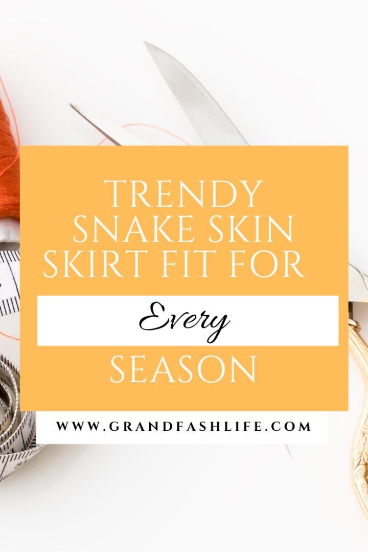 Trendy Snakeskin Skirt Fit For EverySeason