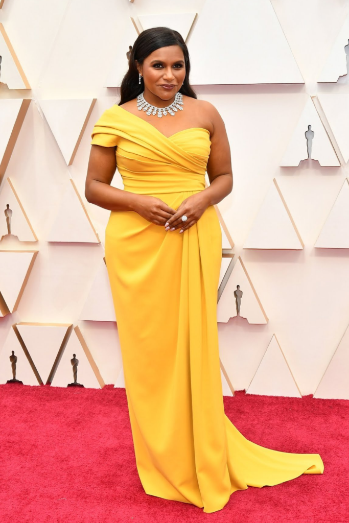 Mindy Kaling on the 2020 Oscars Red Carpet