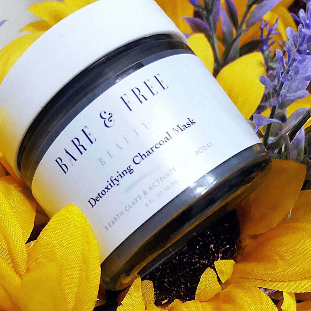 Bare & Free Vegan skincare Detoxifying Charcoal mask