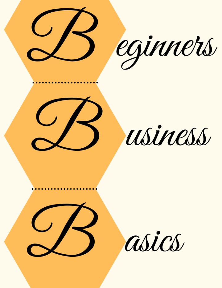 Beginners Business Basics Digital Workbook